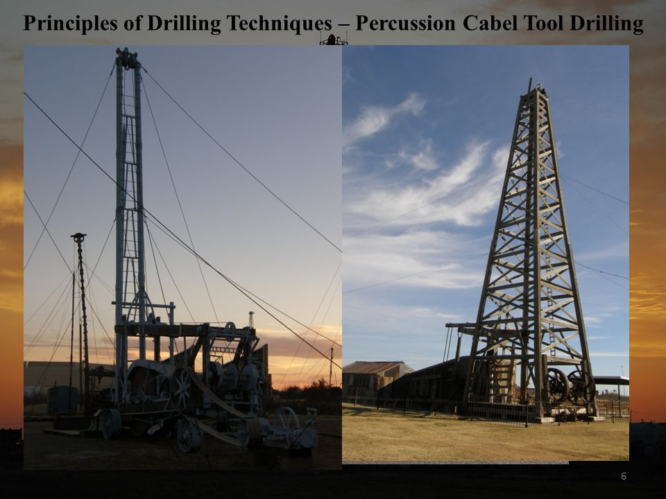 6 Principles of Drilling Techniques – Percussion Cabel Tool Drilling