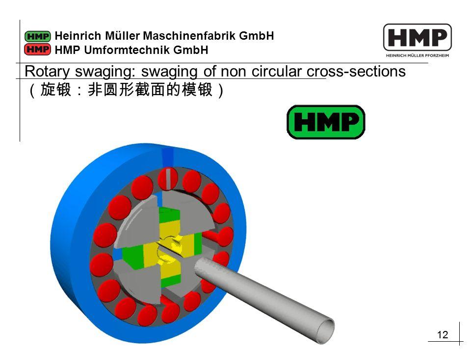 12 Heinrich Müller Maschinenfabrik GmbH HMP Umformtechnik GmbH Rotary swaging: swaging of non circular cross-sections (旋锻:非圆形截面的模锻)