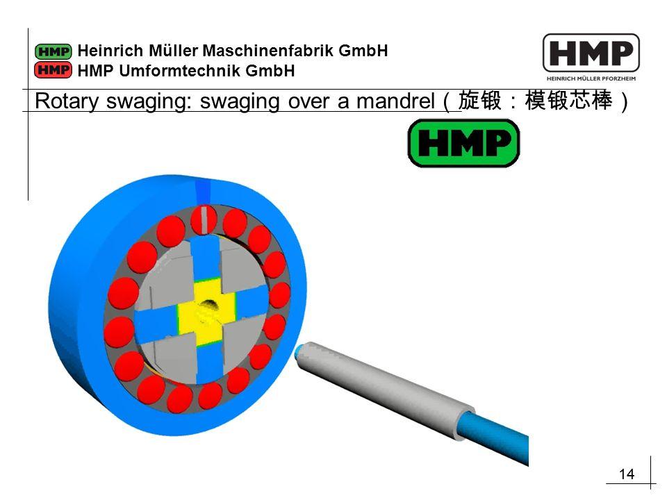14 Heinrich Müller Maschinenfabrik GmbH HMP Umformtechnik GmbH Rotary swaging: swaging over a mandrel (旋锻:模锻芯棒)