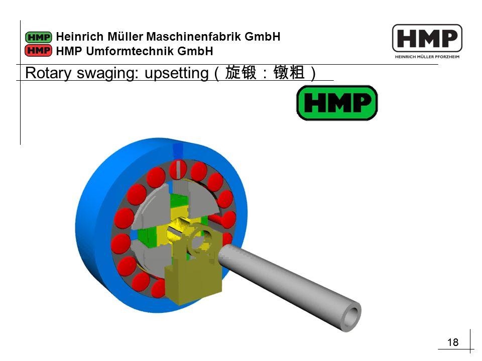 18 Heinrich Müller Maschinenfabrik GmbH HMP Umformtechnik GmbH Rotary swaging: upsetting (旋锻:镦粗)