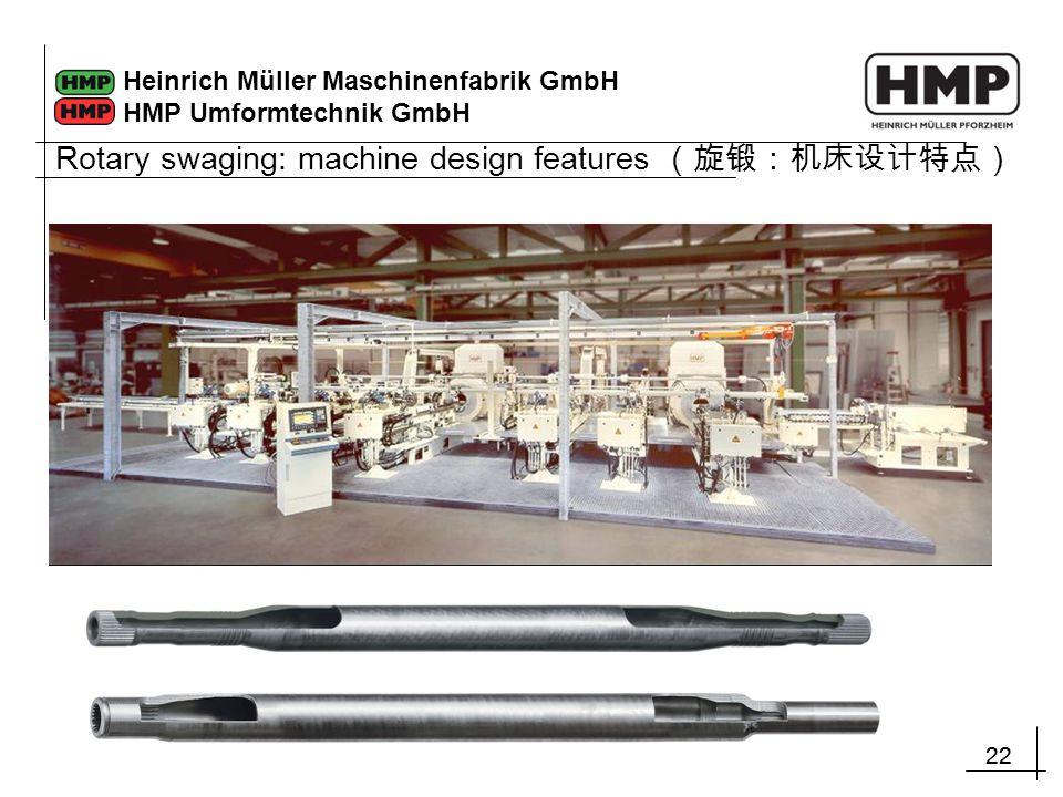22 Heinrich Müller Maschinenfabrik GmbH HMP Umformtechnik GmbH Rotary swaging: machine design features (旋锻:机床设计特点)