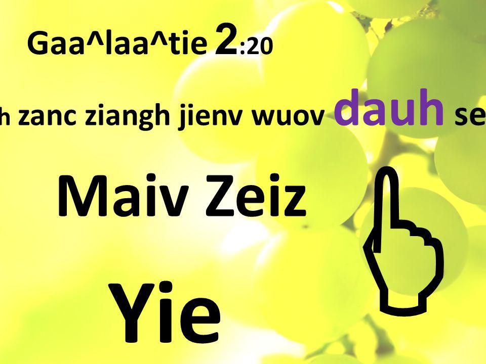Gaa^laa^tie 2 :20 Ih zanc ziangh jienv wuov dauh se Maiv Zeiz Yie