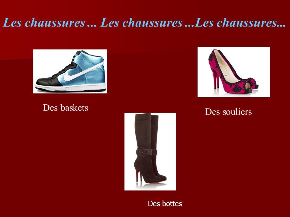 Les chaussures... Les chaussures...Les chaussures... Des baskets Des souliers Des bottes