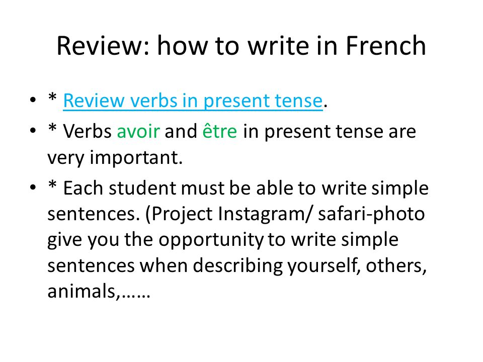 Reading today/Speaking French * Finish left over from yesterday and reading the rest of Zohra's letter./ building a vocabulary.