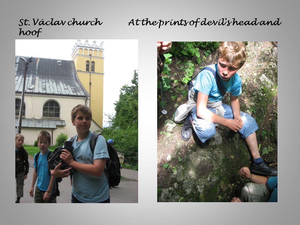 St. Václav church At the prints of devil's head and hoof