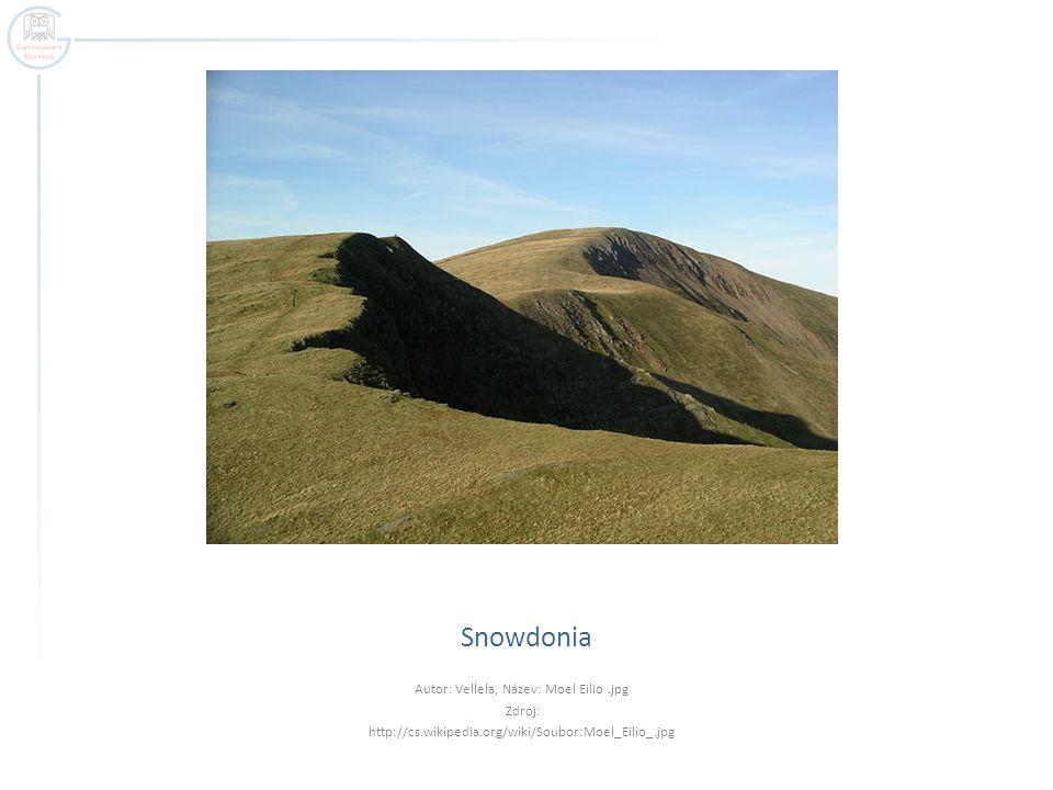 Snowdonia Autor: Vellela, Název: Moel Eilio.jpg Zdroj: http://cs.wikipedia.org/wiki/Soubor:Moel_Eilio_.jpg