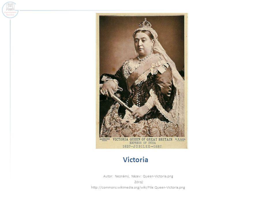 Victoria Autor: Neznámý, Název: Queen-Victoria.png Zdroj: http://commons.wikimedia.org/wiki/File:Queen-Victoria.png