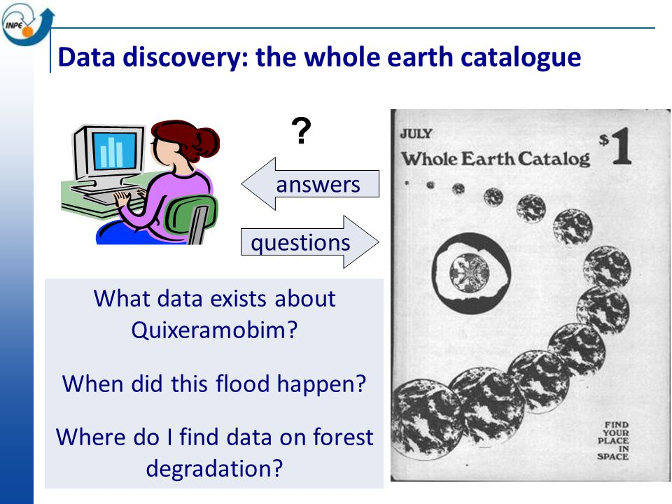 questions answers . Data discovery: the whole earth catalogue What data exists about Quixeramobim.