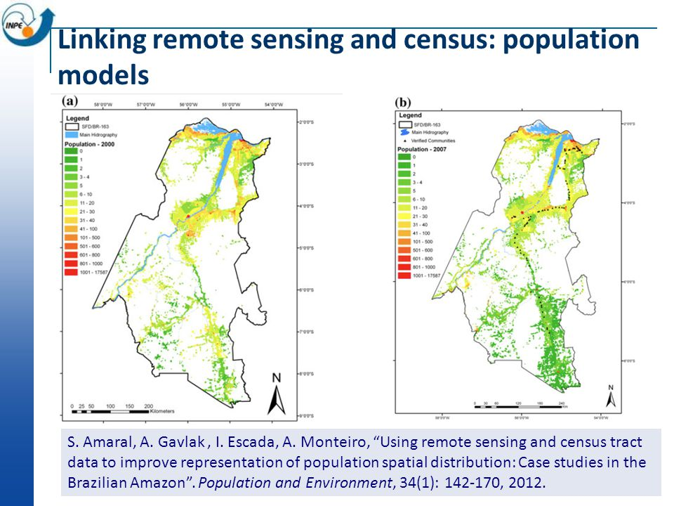 Linking remote sensing and census: population models S.
