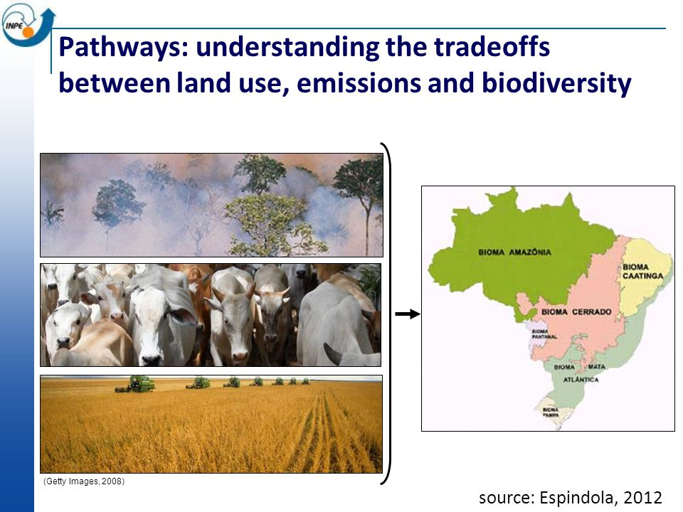 (Getty Images, 2008) (PRODES, 2008) source: Espindola, 2012 Pathways: understanding the tradeoffs between land use, emissions and biodiversity