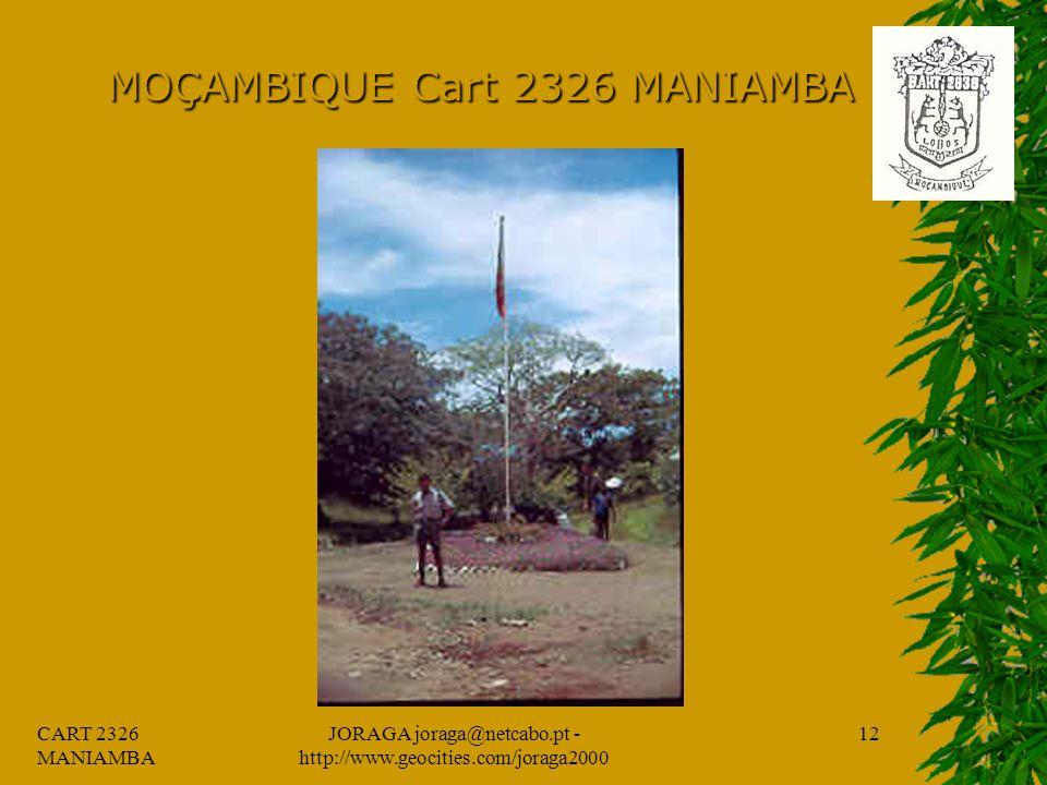 CART 2326 MANIAMBA JORAGA joraga@netcabo.pt - http://www.geocities.com/joraga2000 11 MOÇAMBIQUE Cart 2326 MANIAMBA