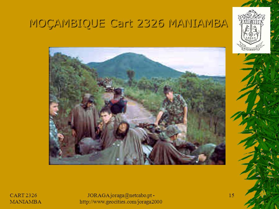 CART 2326 MANIAMBA JORAGA joraga@netcabo.pt - http://www.geocities.com/joraga2000 14 MOÇAMBIQUE Cart 2326 MANIAMBA