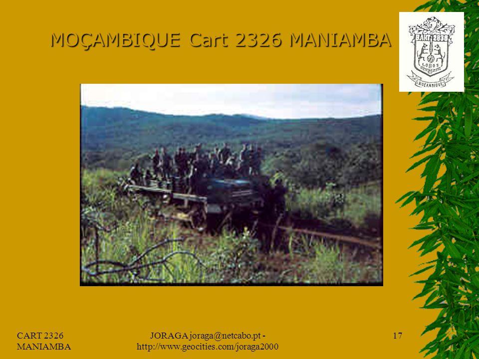 CART 2326 MANIAMBA JORAGA joraga@netcabo.pt - http://www.geocities.com/joraga2000 16 MOÇAMBIQUE Cart 2326 MANIAMBA