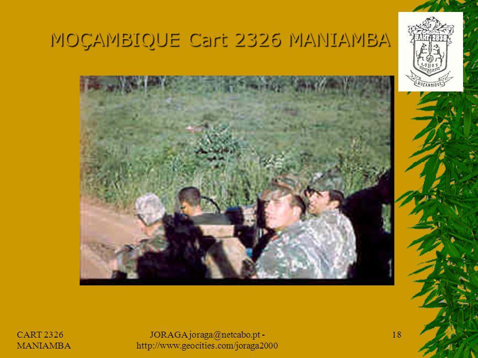 CART 2326 MANIAMBA JORAGA joraga@netcabo.pt - http://www.geocities.com/joraga2000 17 MOÇAMBIQUE Cart 2326 MANIAMBA