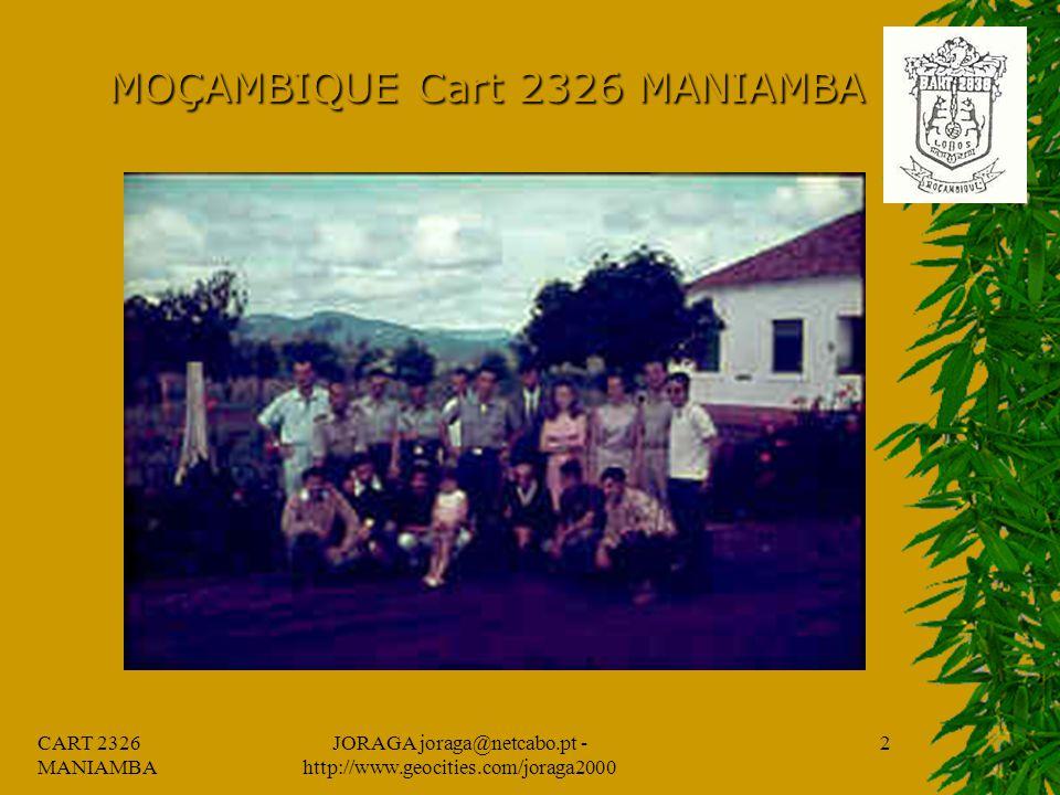 CART 2326 MANIAMBA JORAGA joraga@netcabo.pt - http://www.geocities.com/joraga2000 1 MOÇAMBIQUE Cart 2326 MANIAMBA