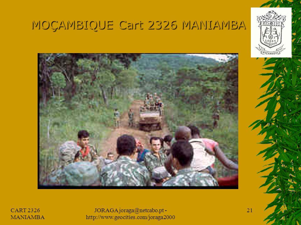 CART 2326 MANIAMBA JORAGA joraga@netcabo.pt - http://www.geocities.com/joraga2000 20 MOÇAMBIQUE Cart 2326 MANIAMBA