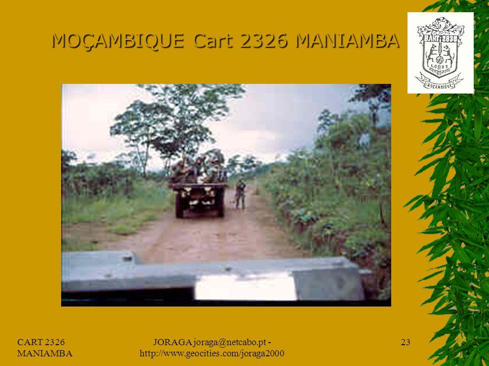 CART 2326 MANIAMBA JORAGA joraga@netcabo.pt - http://www.geocities.com/joraga2000 22 MOÇAMBIQUE Cart 2326 MANIAMBA