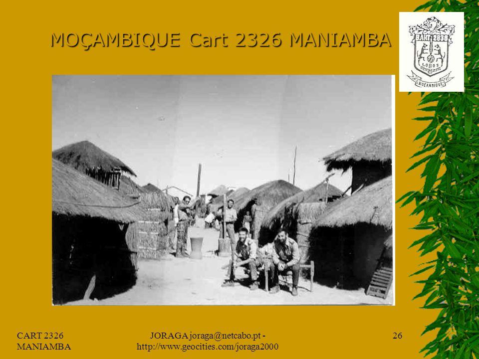 CART 2326 MANIAMBA JORAGA joraga@netcabo.pt - http://www.geocities.com/joraga2000 25 MOÇAMBIQUE Cart 2326 MANIAMBA