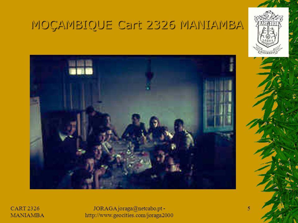 CART 2326 MANIAMBA JORAGA joraga@netcabo.pt - http://www.geocities.com/joraga2000 4 MOÇAMBIQUE Cart 2326 MANIAMBA