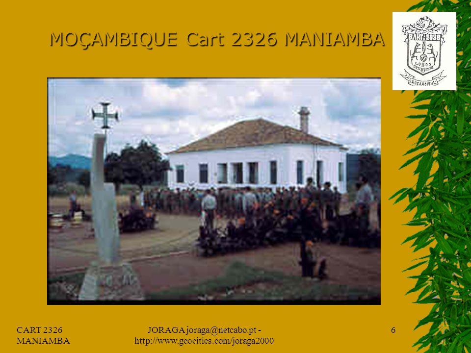 CART 2326 MANIAMBA JORAGA joraga@netcabo.pt - http://www.geocities.com/joraga2000 5 MOÇAMBIQUE Cart 2326 MANIAMBA