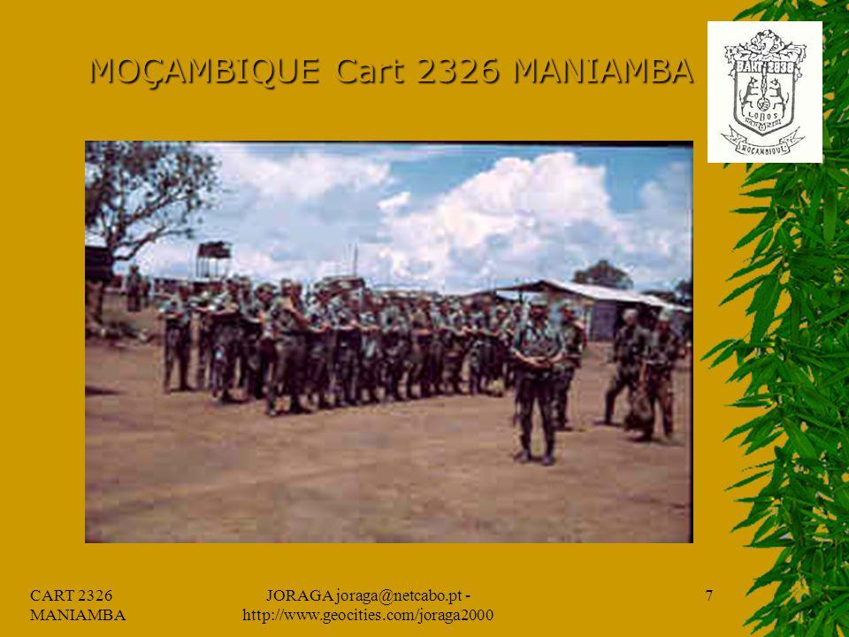 CART 2326 MANIAMBA JORAGA joraga@netcabo.pt - http://www.geocities.com/joraga2000 6 MOÇAMBIQUE Cart 2326 MANIAMBA