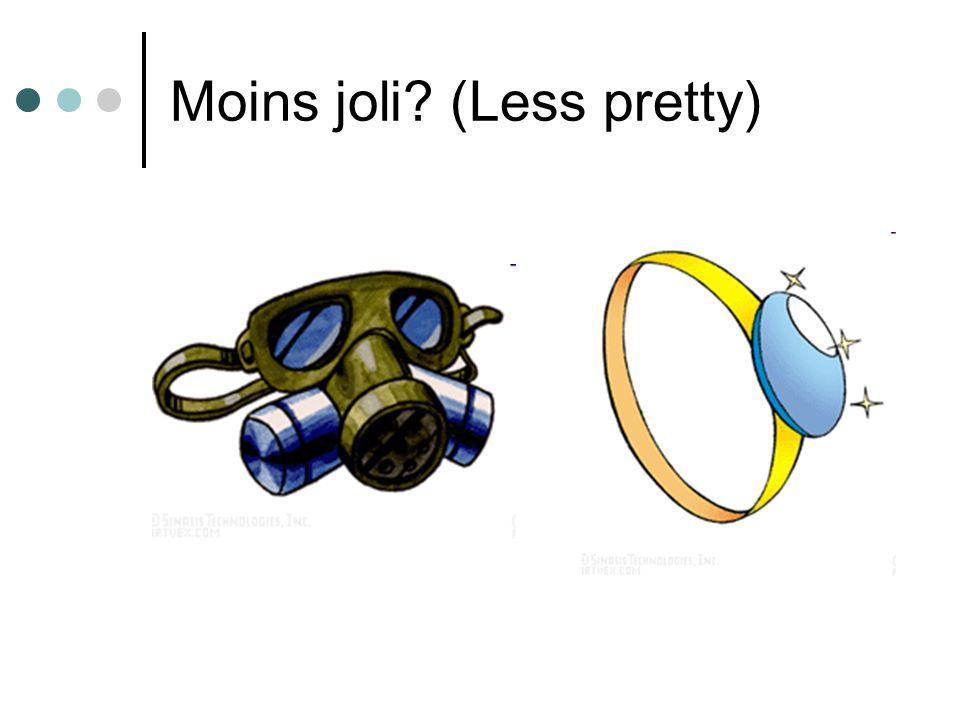 Moins joli (Less pretty)