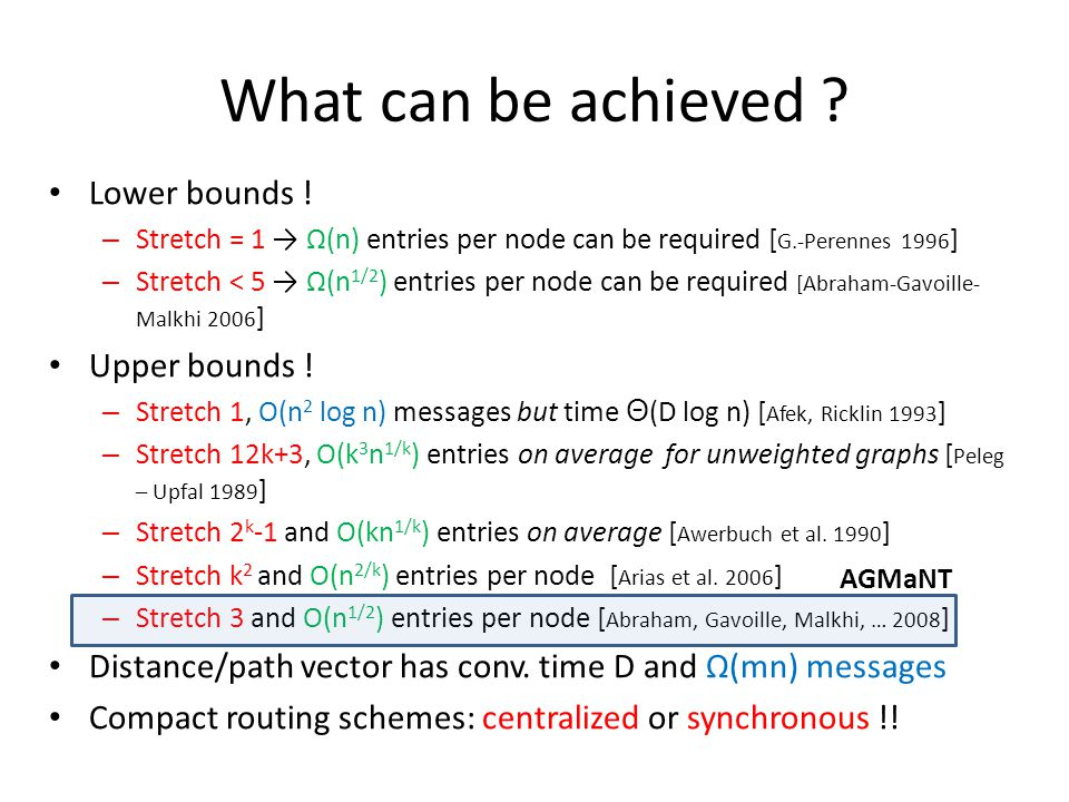 What can be achieved . Lower bounds .