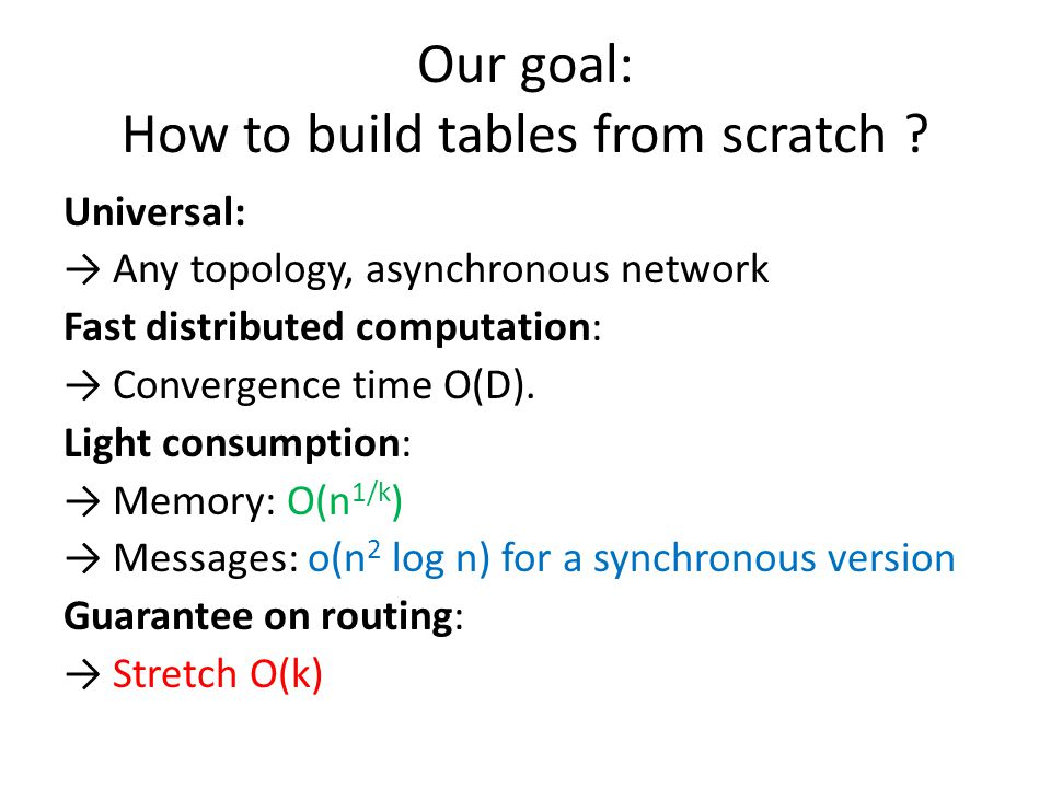 Our goal: How to build tables from scratch .