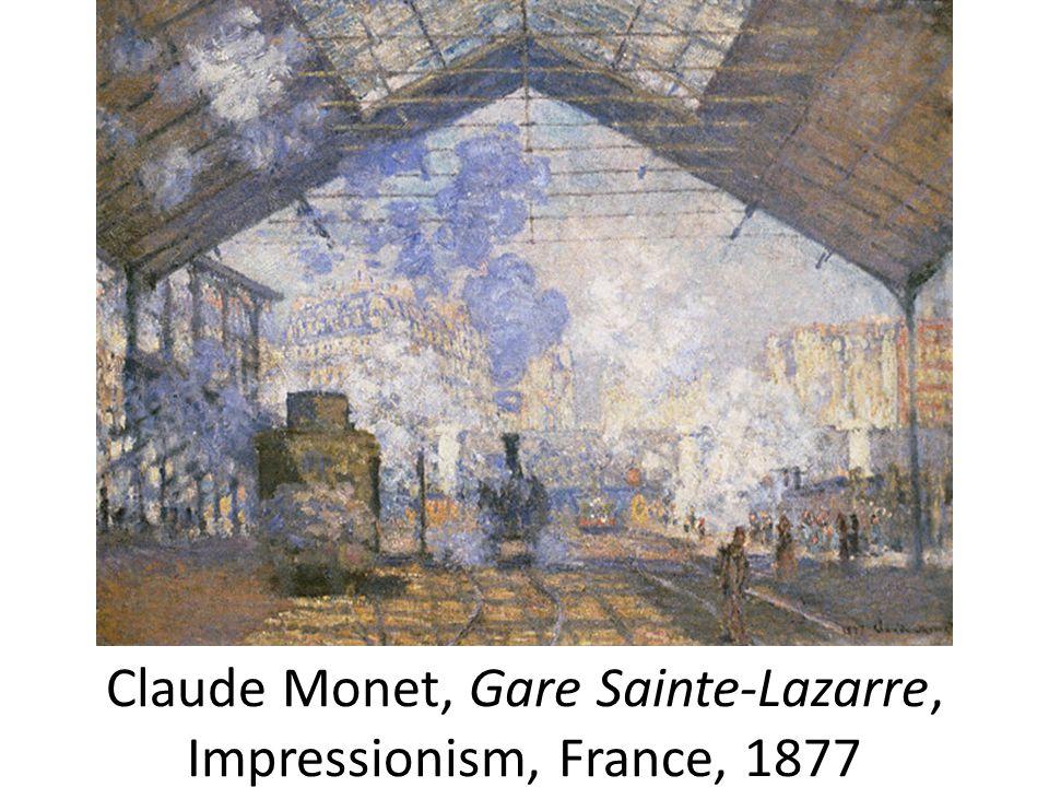 Claude Monet, Gare Sainte-Lazarre, Impressionism, France, 1877