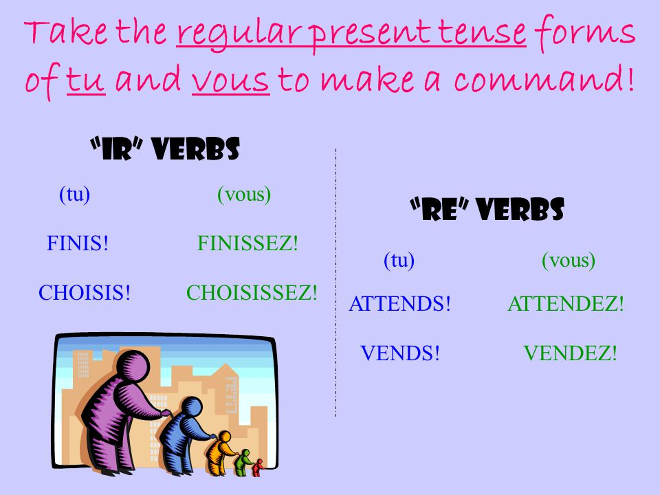 """Let's start out easy… REGULAR """"IR"""" and """"RE"""" VERBS """