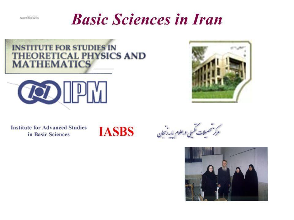 Basic Sciences in Iran