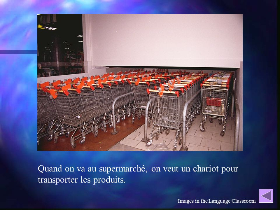 Gina's study What made the difference? What made the difference? Think aloud protocols Think aloud protocols faire les courses faire les courses un ch