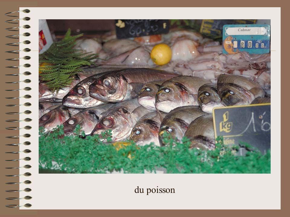à la poissonnerie