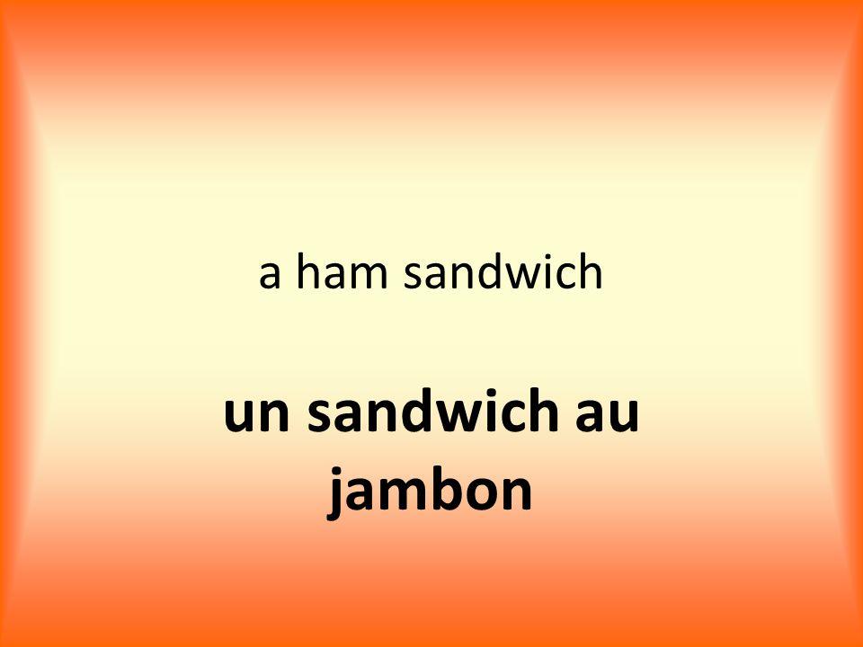 a ham sandwich un sandwich au jambon