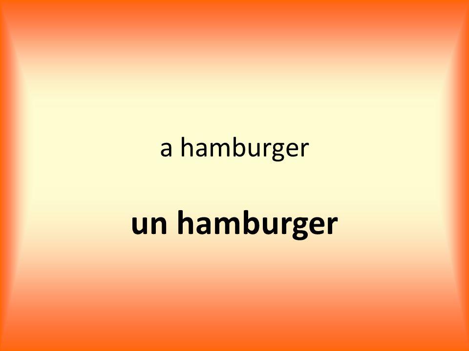 a hamburger un hamburger