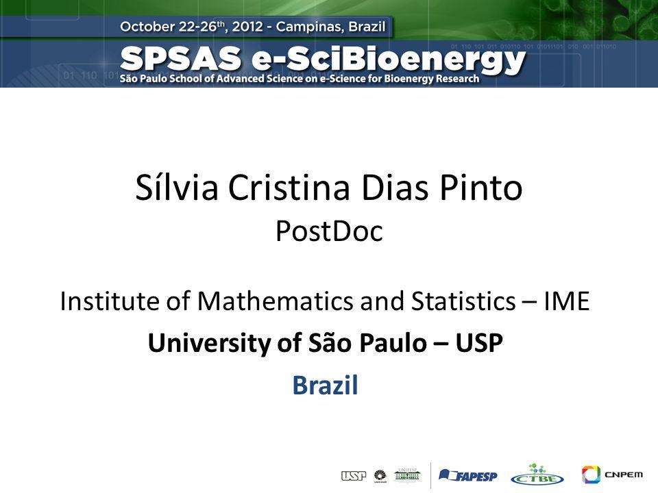 Sílvia Cristina Dias Pinto PostDoc Institute of Mathematics and Statistics – IME University of São Paulo – USP Brazil