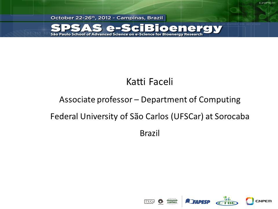 Katti Faceli Associate professor – Department of Computing Federal University of São Carlos (UFSCar) at Sorocaba Brazil