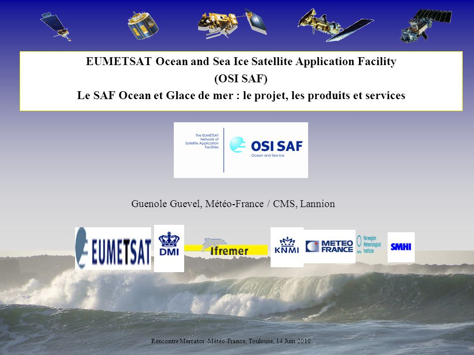 2 EUMETSAT EUMETSAT, intergovernmental organisation created in 1986, is the European operational satellite agency for monitoring weather, climate and environment.