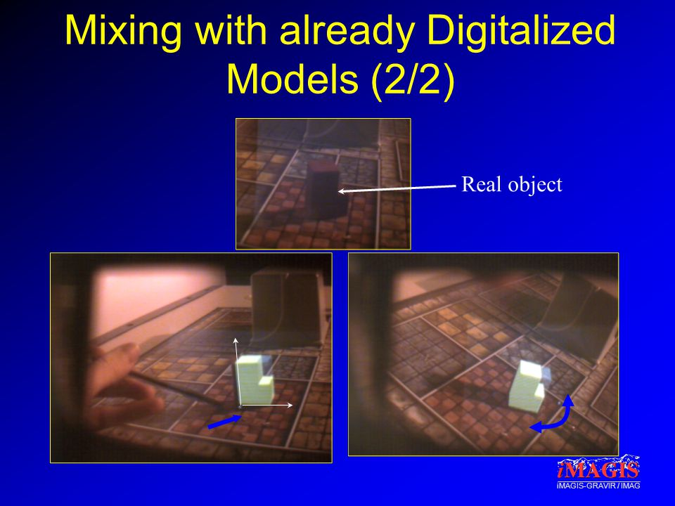 Mixing with already Digitalized Models (2/2) Real object