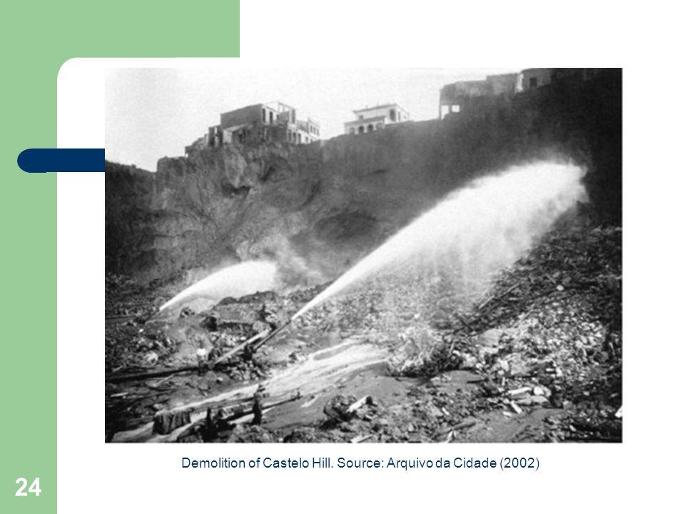 24 Demolition of Castelo Hill. Source: Arquivo da Cidade (2002)