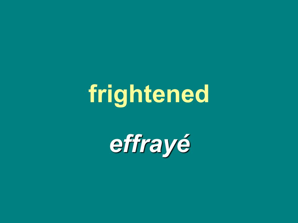 frightened effrayé