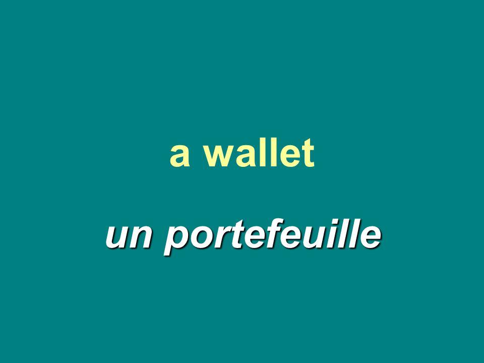 a wallet un portefeuille