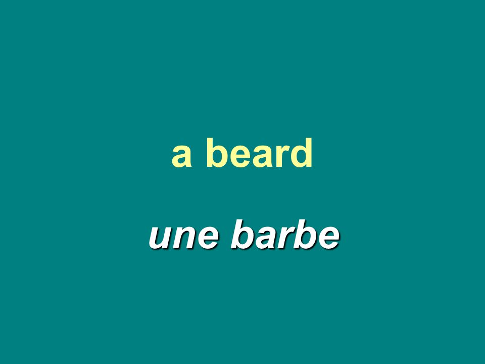 a beard une barbe