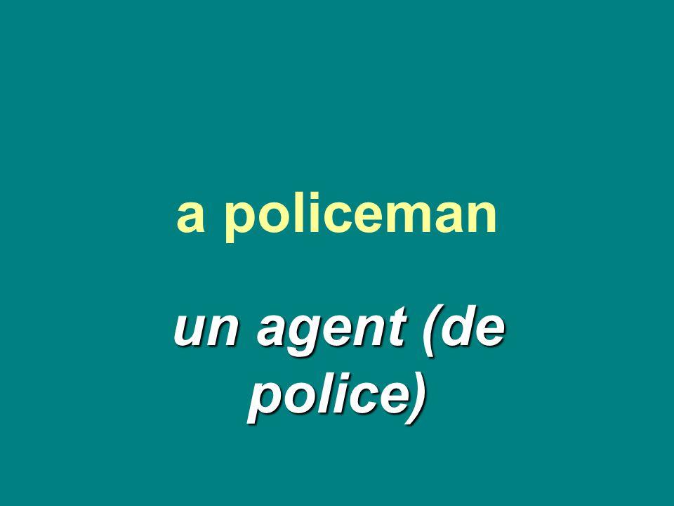a policeman un agent (de police)