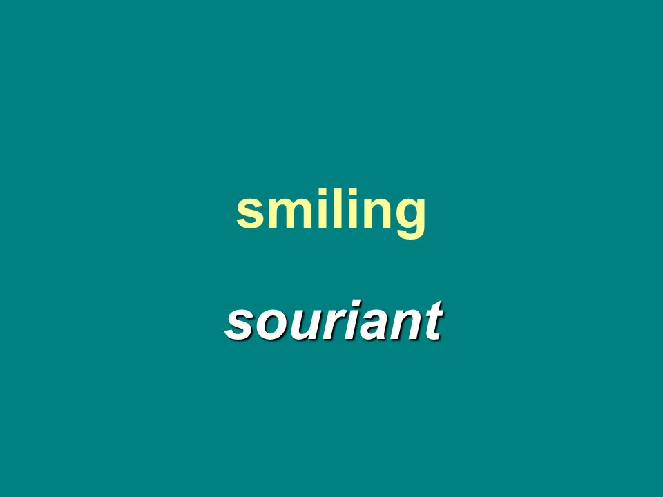smiling souriant