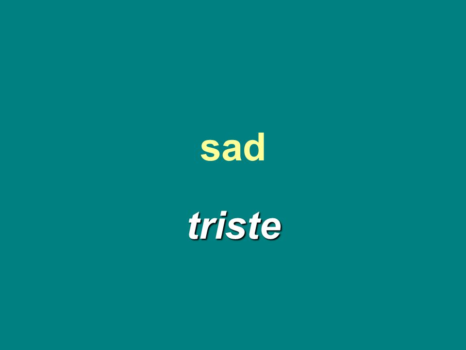 sad triste