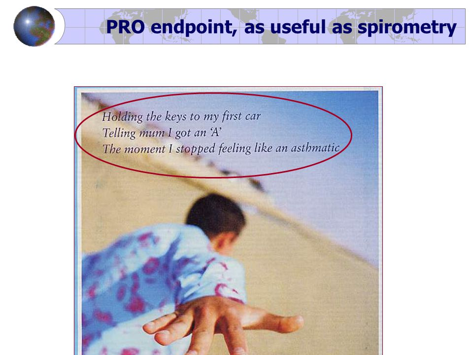 PRO endpoint, as useful as spirometry