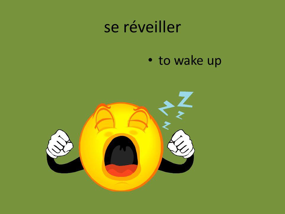 se réveiller to wake up