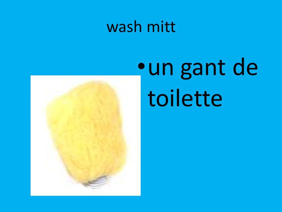 wash mitt un gant de toilette