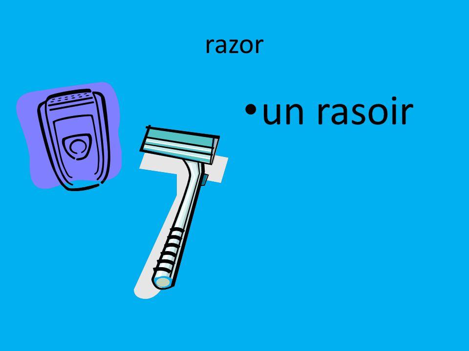 razor un rasoir